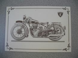 Carte Moto  Peugeot 515  1933 - Motos