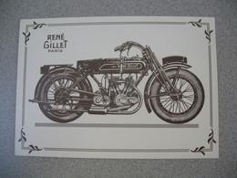 Carte Moto  René Gillet  1000 Cm 3  Type Armée Française - Motos