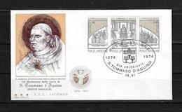 Vaticano 1974 Sobre Primer Dia VII Centenario Santo Tomas De Aquino - Vatican