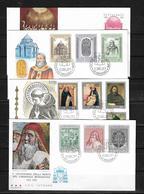Vaticano Lote De 4 Sobres Primer Dia De Circulacion - Vatican