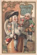 Figurina, Chromo, Victorian Trade Card. Au Fidèle Berger. Ceramiche. Faiences. Sinceny. Vieillemard. - Andere