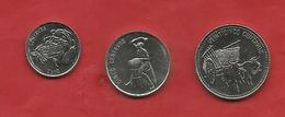 PS54---DOMINICANA---3 MONETE DA 25 CENT 1990--5 CENT 1989--10 CENT 1989---SPL+---2 SCANS - Dominicaine