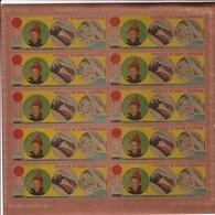 Guinea Ecuatorial Nº Michel A29 En Hoja De 10 Sellos SIN DENTAR - Guinea Ecuatorial