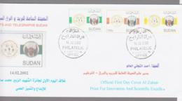SUDAN - 2002 - SCIENTIFIC EXCELLENCE  SET OF 3 ON ILLUSTRATED FDC,,SELDOM SEEN SET ON COVER,STAMPS SG £37+ - Sudan (1954-...)