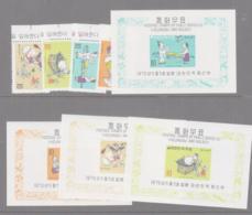 SOUTH KOREA -  1970 - FAIRY TALES 5TH SERIES SET OF 3 + S/SHEETS MNH, SG CAT £85 - Korea, South