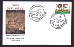 SPAIN 2018 SPECIAL POSTMARK EL PENDO CAVE - ART ROCK - Archaeology