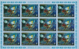 Guinea Ecuatorial Nº Michel A599 En Hojas De 12 Sellos SIN DENTAR - Äquatorial-Guinea