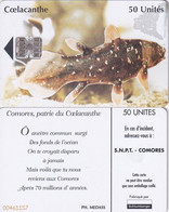 COMOROS ISL. - Fish, Coelacanthe, Red BN, Used - Komoren
