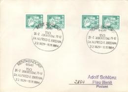 DDR Beleg Mit Sonderstempel Renthendorf 150. Geburtstag Alfred Brehms 1979 - Marcofilia - EMA ( Maquina De Huellas A Franquear)