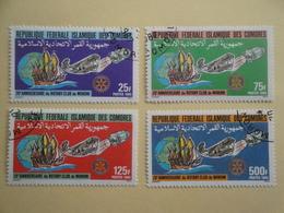 1985 Comores Yv 431 / 434 Oblitéré Rotary Bateaux Ships Avion Airplane  Cote  3.50 €  Michel  758 / 761 - Comores (1975-...)
