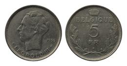 LEOPOLD III * 5 Frank 1936 Frans  Pos.B * Z.Fraai / Prachtig * Nr 9869 - 1934-1945: Leopold III