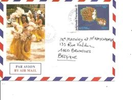 Polynésie ( Lettre Par Avion De 1992 De Tahiti Vers La Belgique à Voir) - Storia Postale