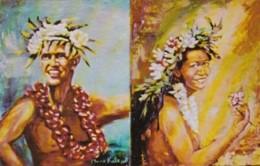 "Morris Katz Painting ""Hawaiian Entertainers"" - Paintings"
