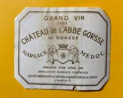 9811 - Château De L'Abbé Gorsse 1966 Margaux état Moyen - Bordeaux