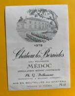9813 - Château Les Bernèdes 1978 Médoc - Bordeaux