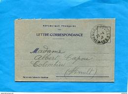 GUERRE 14-18- Marcophilie-soldat- Carte Lettre F M-cad Trésor Et Poste  166 - Avril1916 - Marcophilie (Lettres)