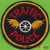 Voyo USA TRAFFIC POLICE Patch NEW - Politie & Rijkswacht