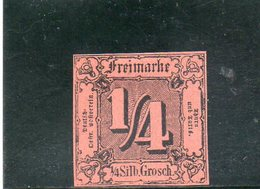 THURN UND TAXIS 1852 SANS GOMME REIMPRESION - Tour Et Taxis
