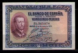 ESPAÑA - BILLETE DE 25 PESETAS DE 1926 - EXCELENTE - [ 1] …-1931 : Primeros Billetes (Banco De España)