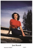 JANE RUSSELL - Film Star Pin Up PHOTO POSTCARD - C44-15 Swiftsure Postcard - Artistas