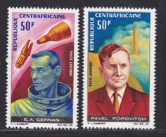CENTRAFRICAINE AERIENS N°   43 & 44 ** MNH Neufs Sans Charnière, TB (D8485) Cosmos, Cosmonautes -1966 - Centrafricaine (République)