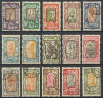 °°° LOT ETIOPIA ETHIOPIA - Y&T N°117/31 - 1919 COMPLETE SET °°° - Etiopia