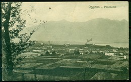 CARTOLINA - CV1189 OGGIONO (Lecco LC) Panorama, FP,  Viaggiata 1917, Francobollo Parzialmente Asportato, - Lecco