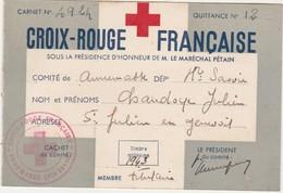 Carte Croix-Rouge Française / 74 Annemasse / Haute-Savoie / St Julien En Genevois / Ss Présidence Maréchal Pétain - 1939-45
