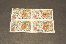 K18667 -stamp  In Bloc Of 4 MNh  -Switzerland - 1941 - SC. 280 - 750 Jahre Bern - Unused Stamps