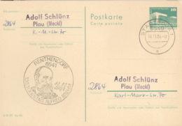 DDR Ganzsache Mit Sonderstempel Renthendorf Todestag Alfred Brems 1984 - Marcofilia - EMA ( Maquina De Huellas A Franquear)