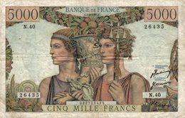 1423-2019   BILLET 5 000 FRANCS  TERRE ET MER 1-02-1951 - 1871-1952 Frühe Francs Des 20. Jh.
