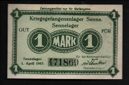 GEFANGENENLAGER GELD LAGERGELD BILLET CAMP SENNE PRISONNIER ALLEMAGNE KG POW GUERRE 1914 1918 - [10] Emisiones Militares