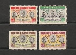 Albanie Lot De 4 Timbres 1952 - Churchill Et Roosevelt - Albanien