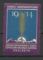 SWITZERLAND 1914 Exposition Nationale Suisse Bern Werbemarke MNH - Erinnophilie