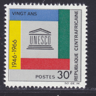 CENTRAFRICAINE N°   78 ** MNH Neuf Sans Charnière, TB (D8493) Anniversaire De L'U.N.E.S.C.O. -1966 - Central African Republic