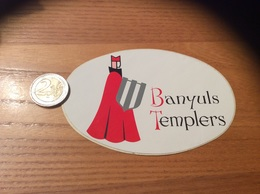 AUTOCOLLANT, Sticker «Banyuls Templers» (vin, Templiers (66) - Autocollants