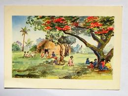 Carte Postale : Nouvelle Calédonie : LIFOU : Kézényi, Le Dimanche Après-midi Sous Un Flamboyant - Nouvelle-Calédonie
