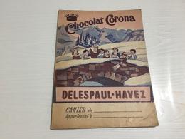 PROTÈGE CAHIER Ancien CHOCOLAT CORONA DELESPAUL HAVEZ - Protège-cahiers
