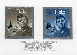 Malta - 1966 - Presidente Kennedy - 2 Valori - Nuovi - Vedi Foto - (FDC14006) - Malta