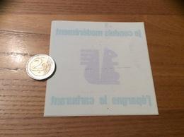 AUTOCOLLANT, Sticker Inversé «je Conduis Modérément J'épargne Le Carburant» (Caisse D'Epargne, écureuil) - Autocollants