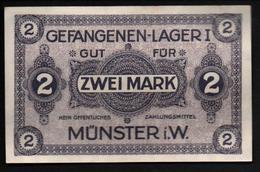 GEFANGENENLAGER GELD LAGERGELD BILLET CAMP MUNSTER I. W. PRISONNIER ALLEMAGNE KG POW GUERRE 1914 1918 - 1914-18