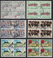 DIVERSE BLOKKEN VAN 4/DIVERS BLOCS DE 4 - Used Stamps