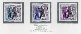Malta - 1966 - Natale - 3 Valori - Nuovi - Con Bordo Di Foglio - Vedi Foto - (FDC14008) - Malta