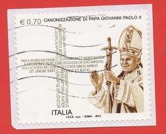 2014 (3471) - Canonizzazione Di Papa Giovanni Paolo II  - Leggi Il Messaggio Del Venditore - 2011-...: Afgestempeld