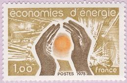N° Yvert & Tellier 2007 - Timbre De France (Année 1978) - MNH - Économies D'Énergies - Francia
