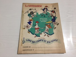 PROTÈGE CAHIER Ancien LA VITTELLOISE VITTEL EAU - Protège-cahiers