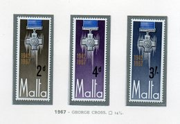 Malta - 1967 - George Cross - 3 Valori - Nuovi - Vedi Foto - (FDC14009) - Malta