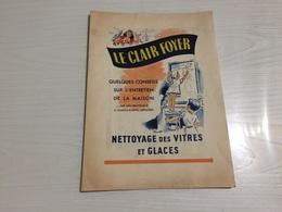PROTÈGE CAHIER Ancien LE CLAIR FOYER VITRES ET GLACES LION NOIR - Protège-cahiers