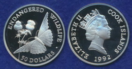 Cook Islands 50 Dollar 1992 Kaisermantel Ag925 - Cook