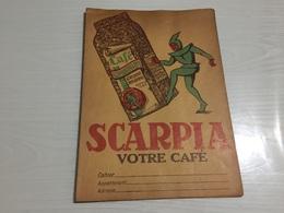 PROTÈGE CAHIER Ancien CAFÉ SCARPIA DETREZ VITRY EN ARTOIS PAS DE CALAIS - Protège-cahiers